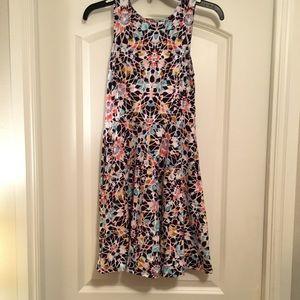 A line patterned dress